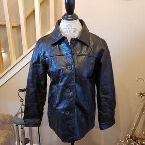 Vintage Tudor Court 100% Leather Jacket